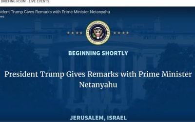The White House website showing] a video with the dateline 'Jerusalem, Israel,' May 22, 2017. (Screen capture: The White House)