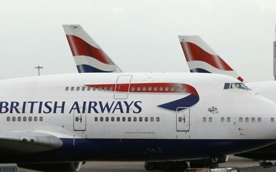Illustrative photo of British Airways planes parked at Heathrow Airport , London,  Jan. 10, 2017. (AP/Frank Augstein)