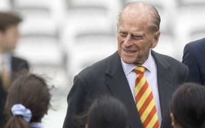 Britains Prince Philip, the Duke of Edinburgh, smiles during his visit to Lord's Cricket Ground to open the new Warner Stand, in London, May 3, 2017. (Arthur Edward/Pool/AP)