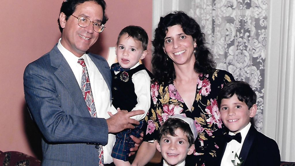 A family picture of Marissa Moss, husband Harvey, and the kids. (Courtesy)