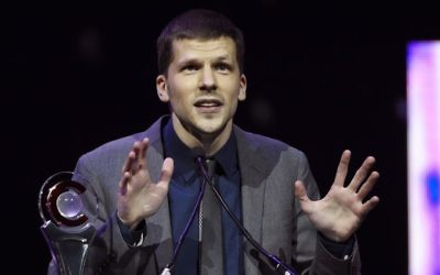 In this April 14, 2016 file photo, actor Jesse Eisenberg accepts the Male Star of the Year award during the CinemaCon 2016 Big Screen Achievement Awards n Las Vegas. (Photo by Chris Pizzello/Invision/AP, File)