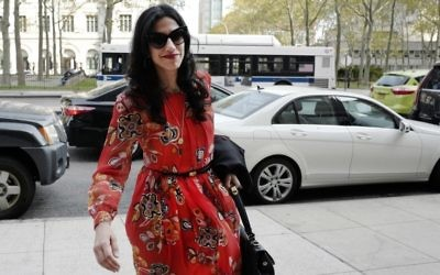 In this Nov. 2, 2016 file photo, Huma Abedin is seen in the Brooklyn borough of New York. (AP Photo/Mark Lennihan, File)