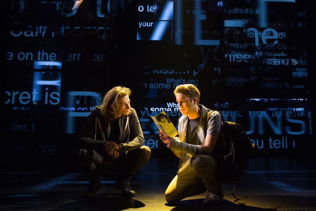 Mike Faist and Ben Platt in 'Dear Evan Hansen.' (Photo credit Matthew Murphy)
