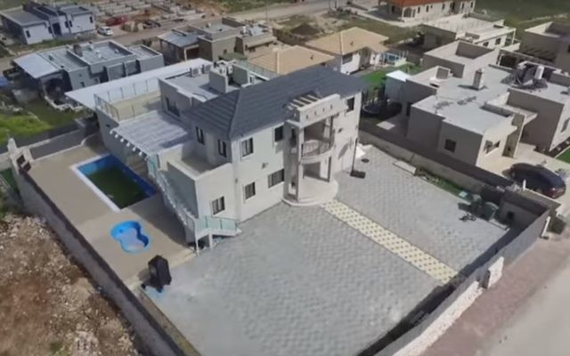 Aryeh Deri's family's vacation home in Safsufa (Screen capture: YouTube)