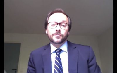 Screen capture from video of Emanuele Giafret, European Union head of the Division for Democracy and Electoral Observation within the EU's external action branch. (YouTube/UNITARHQ)