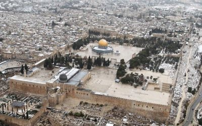 An aerial view of Jerusalem, on December 12, 2013. (Flash90)