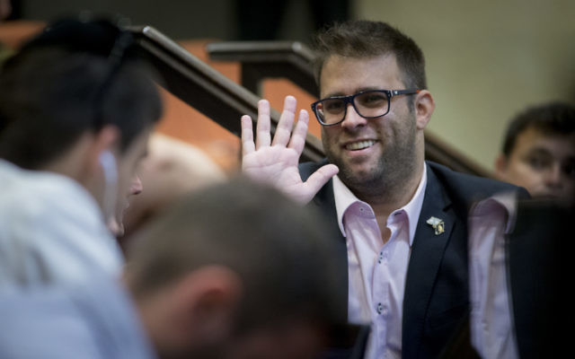 Likud MK Oren Hazan in Jerusalem on September 19, 2016. (Yonatan Sindel/Flash90)