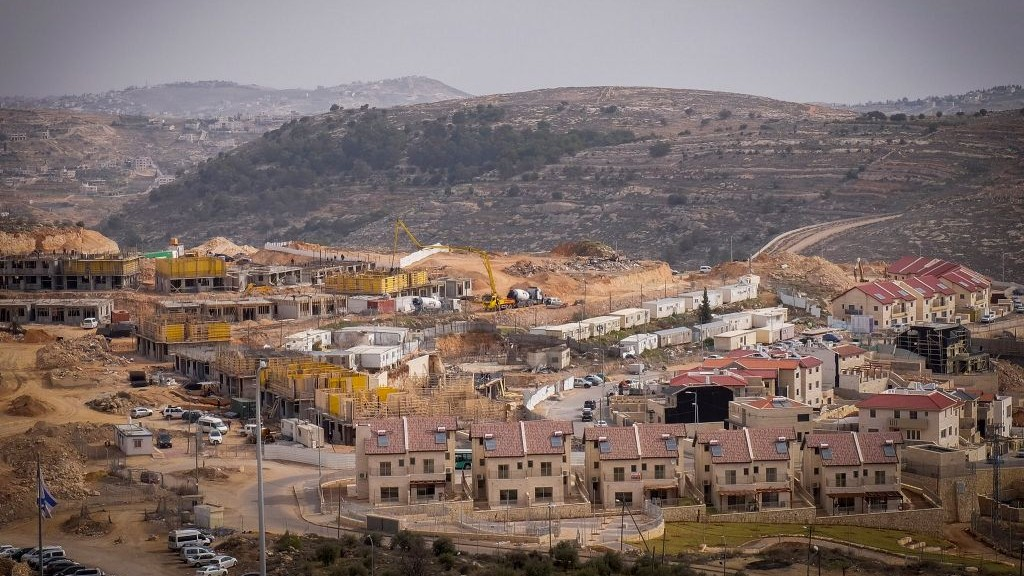 A view of construction in the West Bank settlement of Efrat