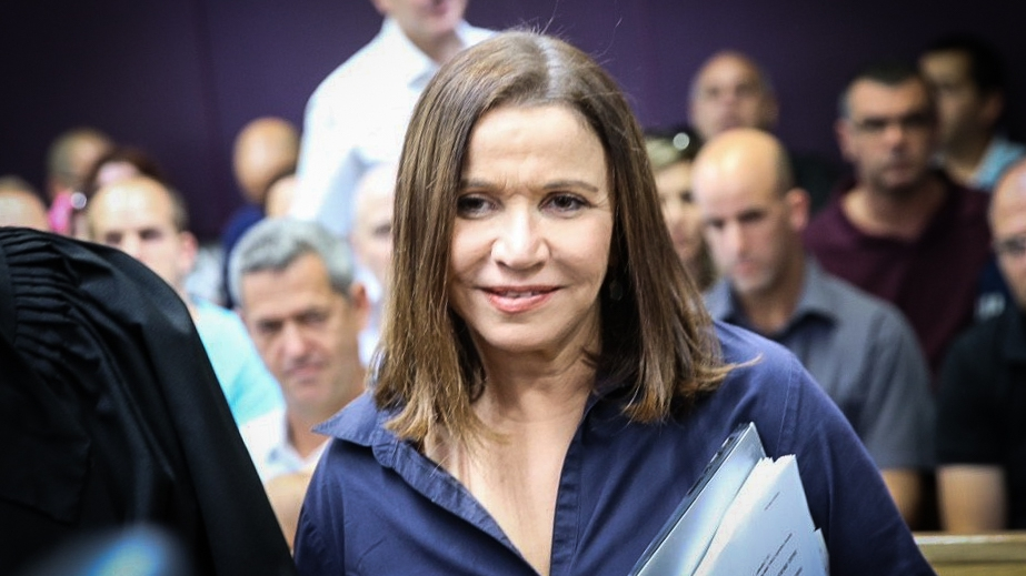Zionist Union MK Shelly Yachimovich arrives to the Tel Aviv District Court for her appeal asking to stop the vote counting process, claiming ballot tampering in the elections to the head of the Histadrut labor federation, May 25, 2017. (Flash90)