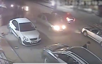 Screen capture from a video broadcast on Hamas television allegedly showing the assassin of Mazen Faqha leaving the scene of the shooting, March 24, 2017. (YouTube/mikstarsky)