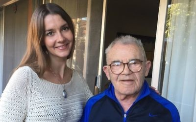 31-year-old Lea Heitfeld shares an apartment with 95-year-old Holocaust survivor Ben Stern. (Courtesy)