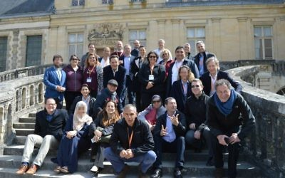 Israeli, Arab, Iranian and Turkish researchers meet in Fontainebleau, France, to set up joint research projects on April 28-30, 2017 (Courtesy)