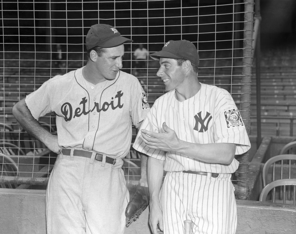 Hank Greenberg and Joe DiMaggio, 1939. (National Museum of American Jewish History)