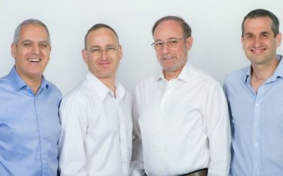 Karamba founders, left to right, David Barzilai, Tal Ben-David, Ami Dotan, Assaf Harel (Courtesy: Orly Landau)
