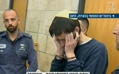Meir Goldstein, acquitted of the murder of his wife on grounds of insanity, May 28, 2017 (Channel 2 screenshot)