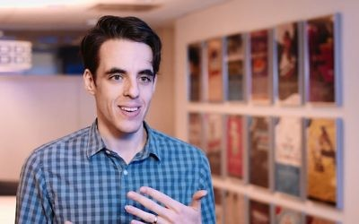 Steven Levenson, writer of Tony-nominated musical 'Dear Evan Hansen' play 'If I Forget.' (YouTube screenshot)