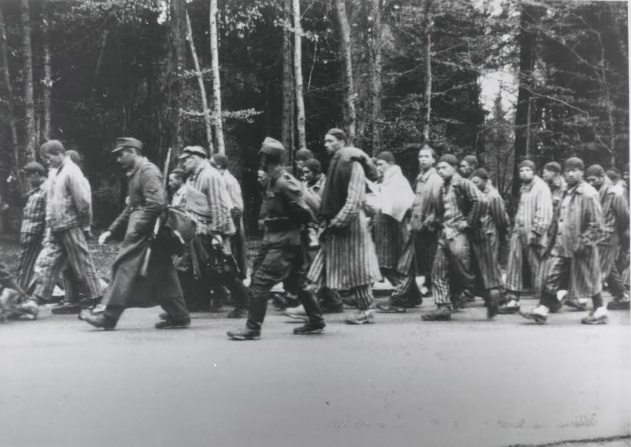 Liberated concentration camp prisoners. (Sus Ito Collection, Japanese American National Museum)