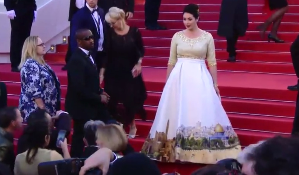 Minister makes Cannes statement with Jerusalem dress | The Times of ...