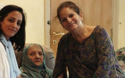 In this undated photo provided by Sahar Nasief, Nassief, right, poses with her mother Naila Mohammed Saleh Nasief, center, and daughter Lubna Jamjoom. (Sahar Nasief via AP)
