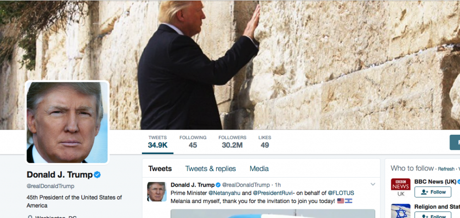 Image result for pics of trump at western wall