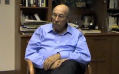 Eliezer Jaffe. (Screen capture: YouTube)