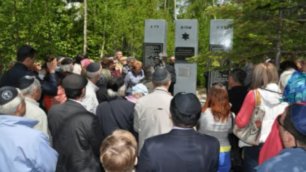 The June 2014 dedication of the Shalom Memorial in Irkutsk, Russia. (YouTube)