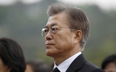 New South Korea's President Moon Jae-in arrives at the National Cemetery in Seoul, South Korea Wednesday, May 10, 2017. (Kim Hong-ji/AP)
