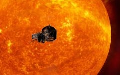 This image made available by the Johns Hopkins University Applied Physics Laboratory on Wednesday, May 31, 2017 depicts NASA's Solar Probe Plus spacecraft approaching the sun. (Johns Hopkins University Applied Physics Laboratory via AP)