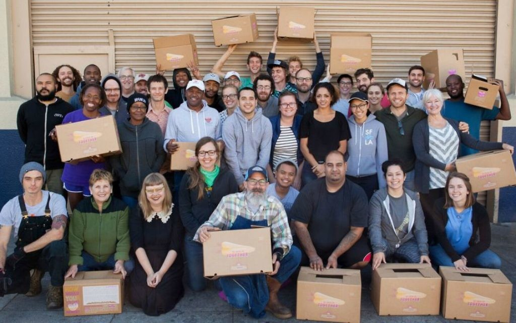 The Imperfect Produce team in front of their warehouse. (Courtesy)