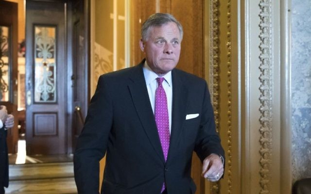 US Senate Select Committee on Intelligence Chairman Richard Burr,a North Carolina Republican, leaves the chamber after a vote on Capitol Hill in Washington, May 10, 2017. (AP Photo/J. Scott Applewhite)