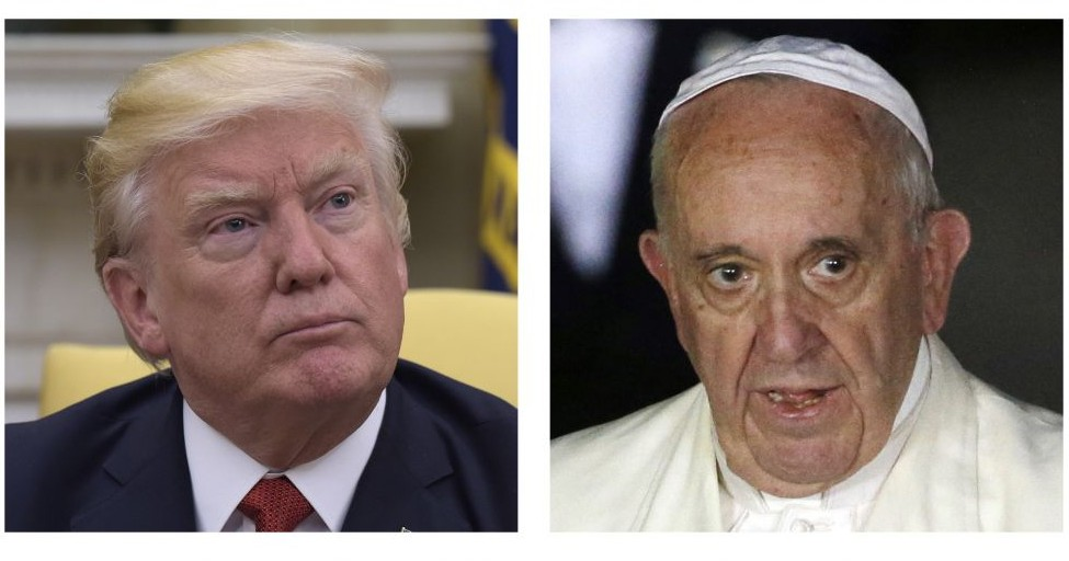 In this combo of file photos, President Donald Trump and Pope Francis. (AP Photo, File)