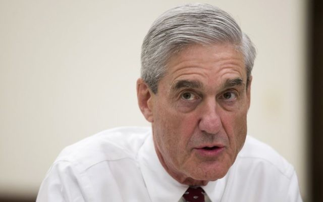 Then-FBI director Robert Mueller speaks during an interview at FBI headquarters in Washington on August 21, 2013. (AP/Evan Vucci)
