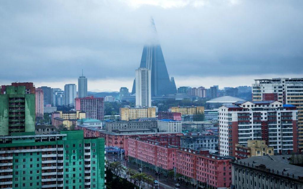 The skyline of Pyongyang. (Moshe Shai)