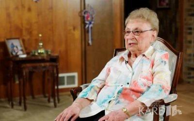 Holocaust survivor Esther Begam (screen capture: Kare 11)