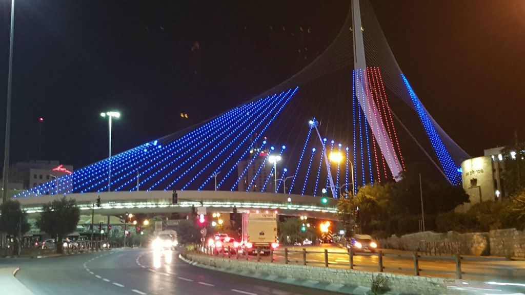 Jerusalem Chords Bridge To Light Up Welcome For Trump The Times Of