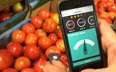 AclarTech's app enables users to assess quality and freshness of produce (Courtesy)