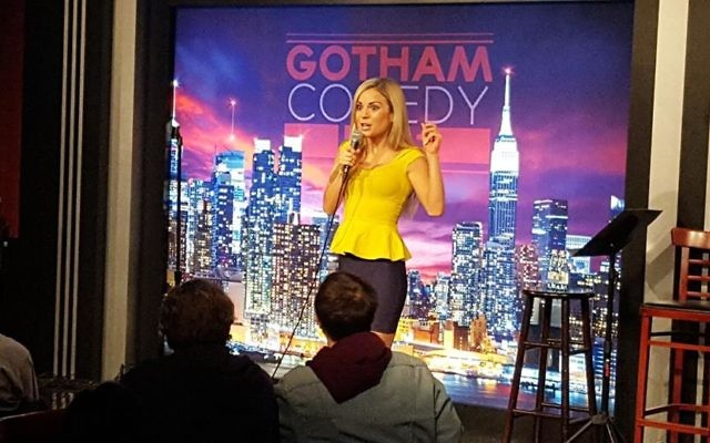 Erin Davis performs at the Gotham Comedy Club in New York City, February 2017 (Courtesy)