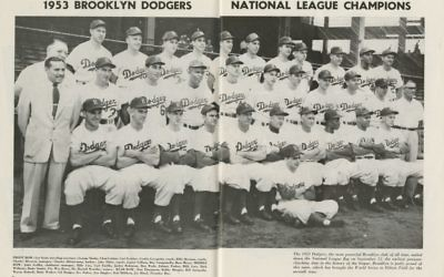Brooklyn Dodgers team photograph, 1953. (Brooklyn Historical Society)