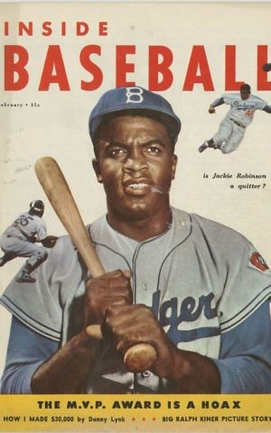 Cover of Inside Baseball magazine, February 1953, (Brooklyn Historical Society)