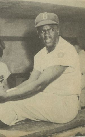 Jackie Robinson. (Brooklyn Historical Society)