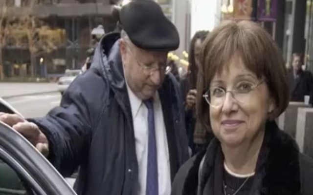 A Dec. 8, 2004 photo shows Joyce and Stanley Boim outside federal court in Chicago. (screen capture: YouTube)
