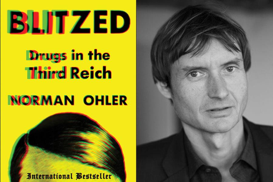 The German book 'Blitzed' and its author, Norman Ohler (Courtesy)