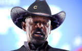 Milwaukee County Sheriff David Clarke speaking at the Conservative Political Action Conference in National Harbor, Md., Feb. 23, 2017. (JTA/Chip Somodevilla/Getty Images)