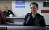 Gad Elmaleh in a new Funny or Die! sketch ridiculing the Trump executive order banning entry to America of visitors from several Muslim countries. (screen capture YouTube)