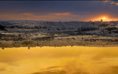 One of the virtual images used in Mekudeshet's 'Jerusalem 2017,' in honor of Jerusalem Day (Courtesy Mekudeshet)