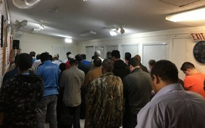 The clock indicates that it is past midnight, but the sun has only recently set for Muslims in Yellowknife, Canada, who must fit in their prayers around an extreme schedule. (Courtesy Islamic Center Yellowknife)