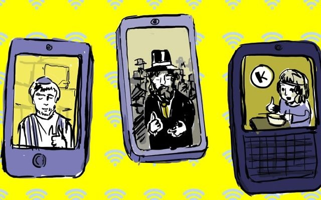 Smartphone apps can help with everything from putting on tefillin correctly to finding a minyan to locating a kosher restaurant. (Lior Zaltzman/JTA)