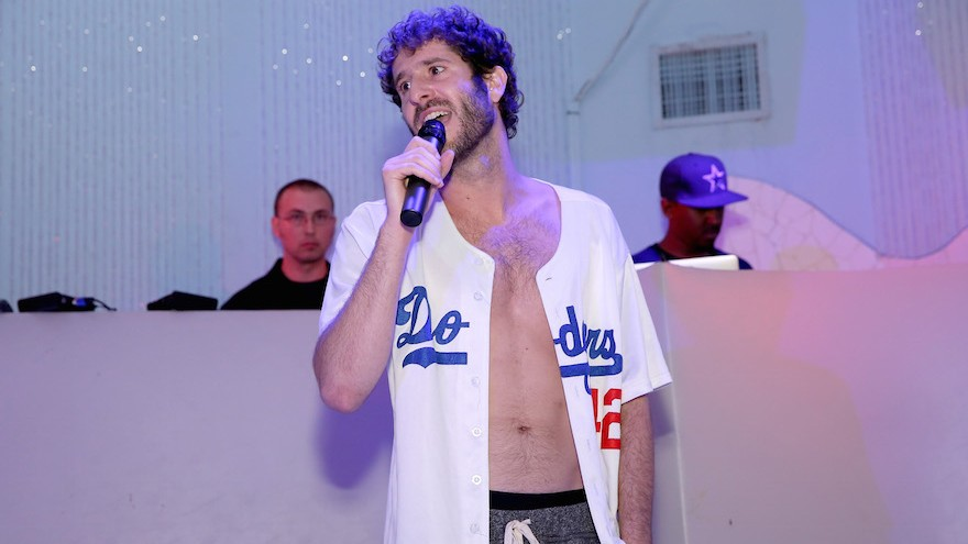 Lil Dicky performing in Miami Beach, Dec. 4, 2015. (Monica Schipper/Getty Images for VH1 via JTA)