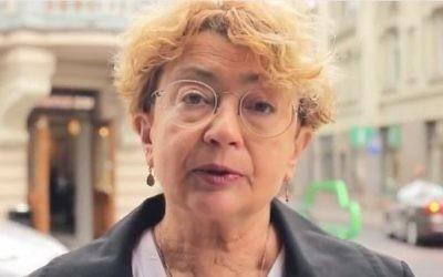 Faina Kukliansky in an October 2016 interview. (Screen capture: YouTube)