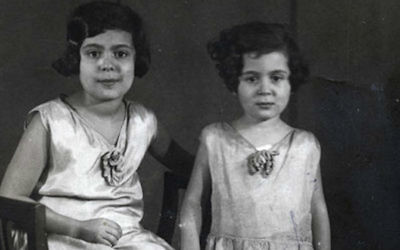 Ester Goldstein, left, and sister Margot lived in Berlin before they were separated in 1939. (Courtesy of Yad Vashem/via JTA)